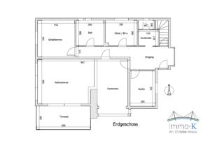 Schéma Erdgeschoss Haus Kehl-Marlen K107