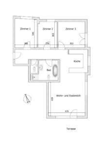 Angenehme Wohnung Kehl Sundheim - K110 - Schéma Wohnung