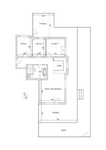 Angenehme Wohnung Kehl Sundheim - K110 - Schéma Wohnung und Garten