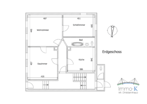 Haus Kehl - Schéma Erdgeschoss -K108