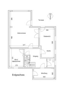 Gemütliche Doppelhaushälfte Kehl - K109 - Schéma Erdgeschoss
