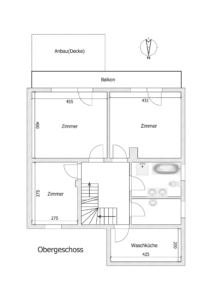 Gemütliche Doppelhaushälfte Kehl - K109 - Schéma Obergeschoss