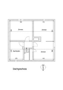 Gemütliche Doppelhaushälfte Kehl - K109 - Schéma Dachgeschoss