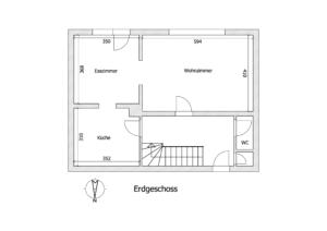 Schéma Erdgeschoss - K113 - Interessante Doppelhaushälfte Kehl